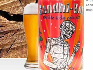 US company apologises after using Gandhis photo on beer cans