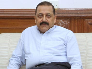 File image of Union minister Jitendra Singh. Image courtesy: PIB