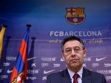 FC Barcelona's president Josep Maria Bartomeu. AP