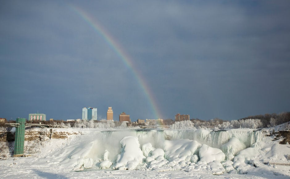 Photos: The mighty Niagara Falls freeze as extreme winter continues