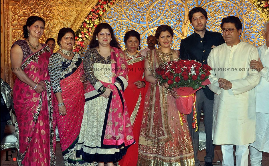 Raj Thackary & Bhai Jagtap with Bride and Groom
