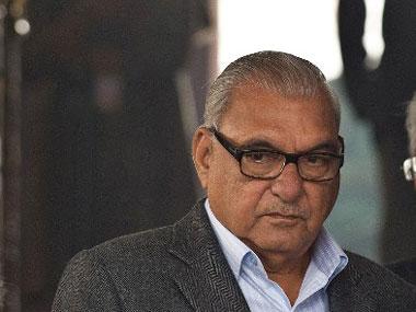 File image of former Haryana chief minister Bhupinder Singh Hooda. AFP