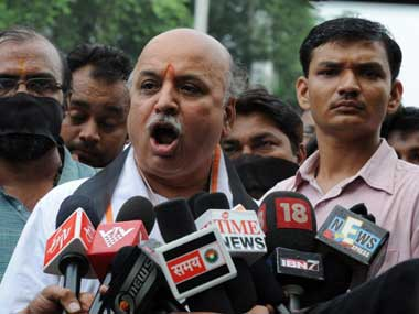 File Image of former VHP chief Praveen Togadia. AFP
