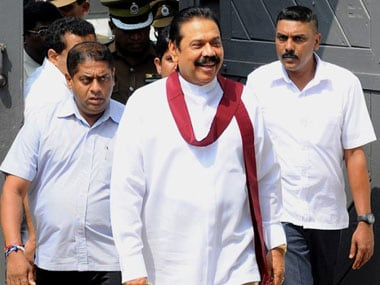 File image of Mahinda Rajapaksa. AFP.