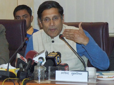 Arvind Subramanian, chief economic advisor. PIB image