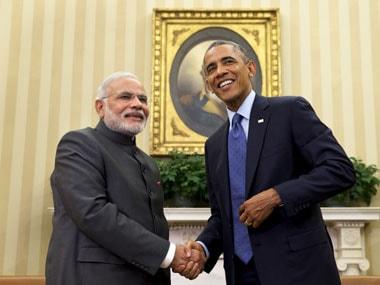 File image of Prime Minister Narendra Modi (left) with US President Barack Obama. AP