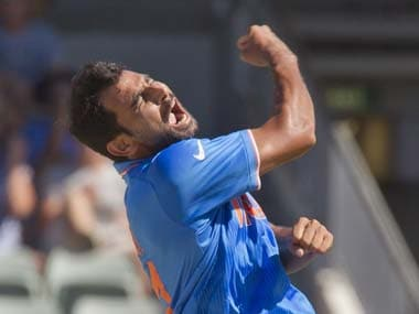 File picture of India's Mohammad Shami. AFP