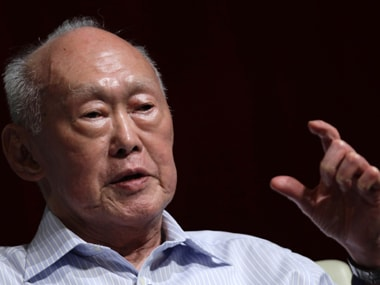 First Prime Minister of Singapore Lee Kuan Yew who died on Monday. Reuters