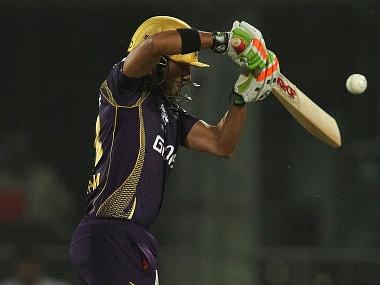 Kolkata Knight Riders captain Gautam Gambhir in action against Delhi Daredevils. BCCI