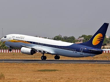 A Jet Airways aircraft. Reuters image.