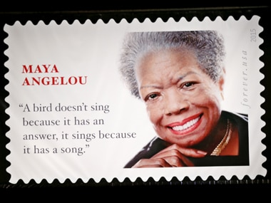 Maya Angelou stamp. Reuters