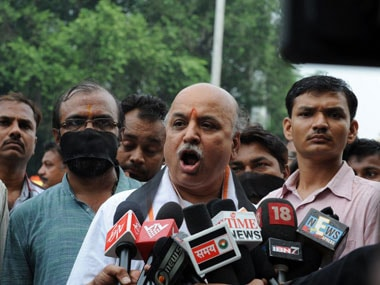 Pravin Togadia says BJP 'betrayed' Hindus by dumping Ram temple issue after coming to power