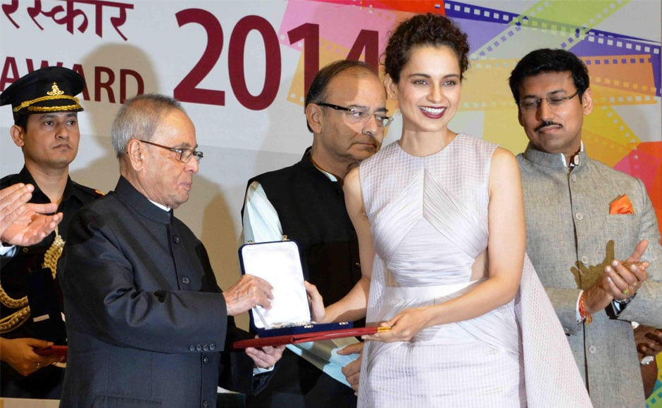 Kangana Ranaut dazzles in a mauve gown at National Awards ceremony