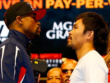 Manny Pacquiao challenges Floyd Mayweather to rematch following victory over Keith Thurman