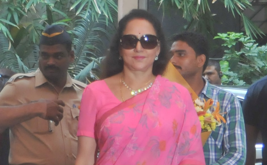 Hema Malini who had been Shashi Kapoor's co-star in several films, also attended the ceremony where Kapoor was awarded the Dadasaheb Phalke Award. Sachin Gokhale/Firstpost