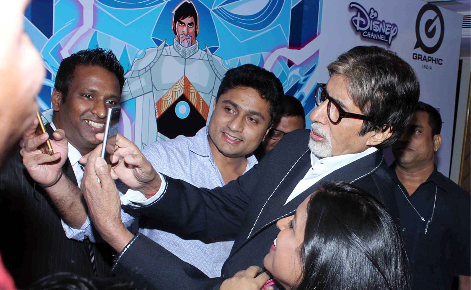 From superstar to superhero: Fans flock to see Amitabh Bachchan at Disney's 'Astra Force' launch