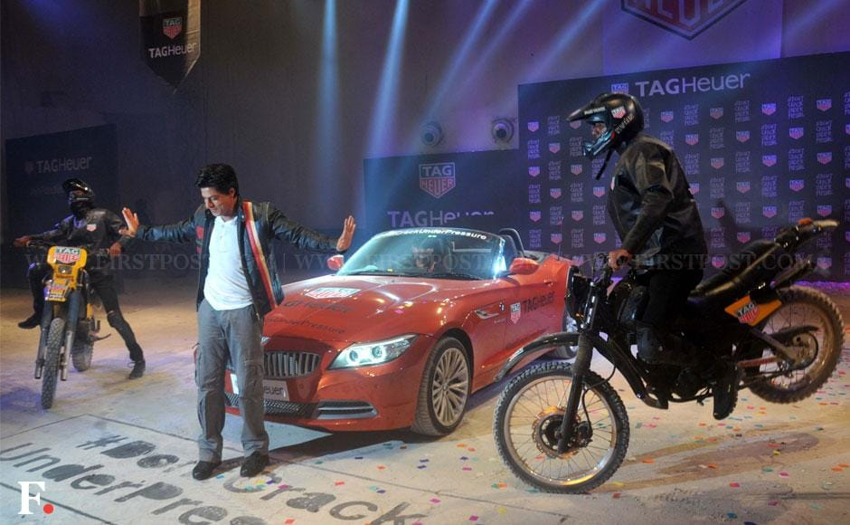 Shahrukh Khan poses, smiles and steals our heart away at a Tag Heuer event