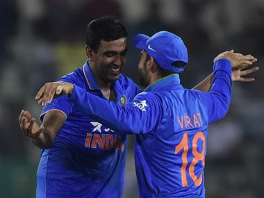 Ravichandran Ashwin and Virat Kohli. AFP