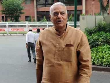 File image of Yashwant Sinha. AFP