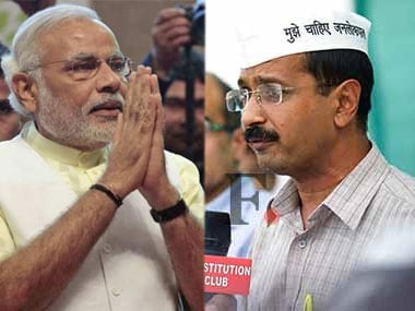 Narendra Modi and Arvind Kejriwal. Agencies.