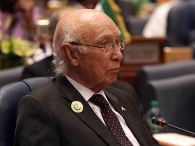 File photo of Sartaj Aziz. AFP