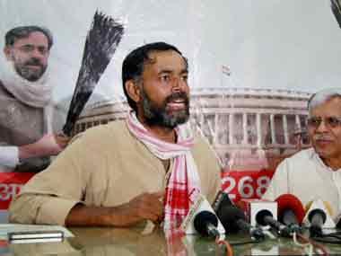 File image of Yogendra Yadav. PTI