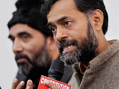 Yogendra Yadav alleged that police threatened to kill him. PTI