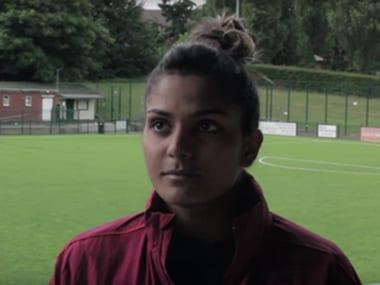 File photo of West Ham Ladies' goalkeeper Aditi Chauhan . YouTube Screengrab