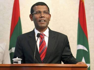 File image of exiled former Maldives president Mohamed Nasheed. PTI