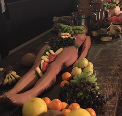 Women naked in fruits hope