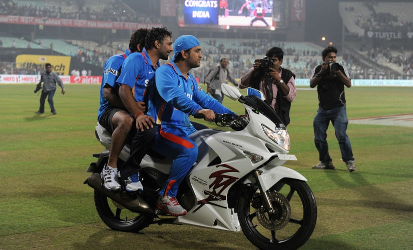 Dhoni is quite crazy about bikes. Getty Images