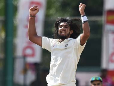 Ishant Sharma in action during the 3rd Test. AFP