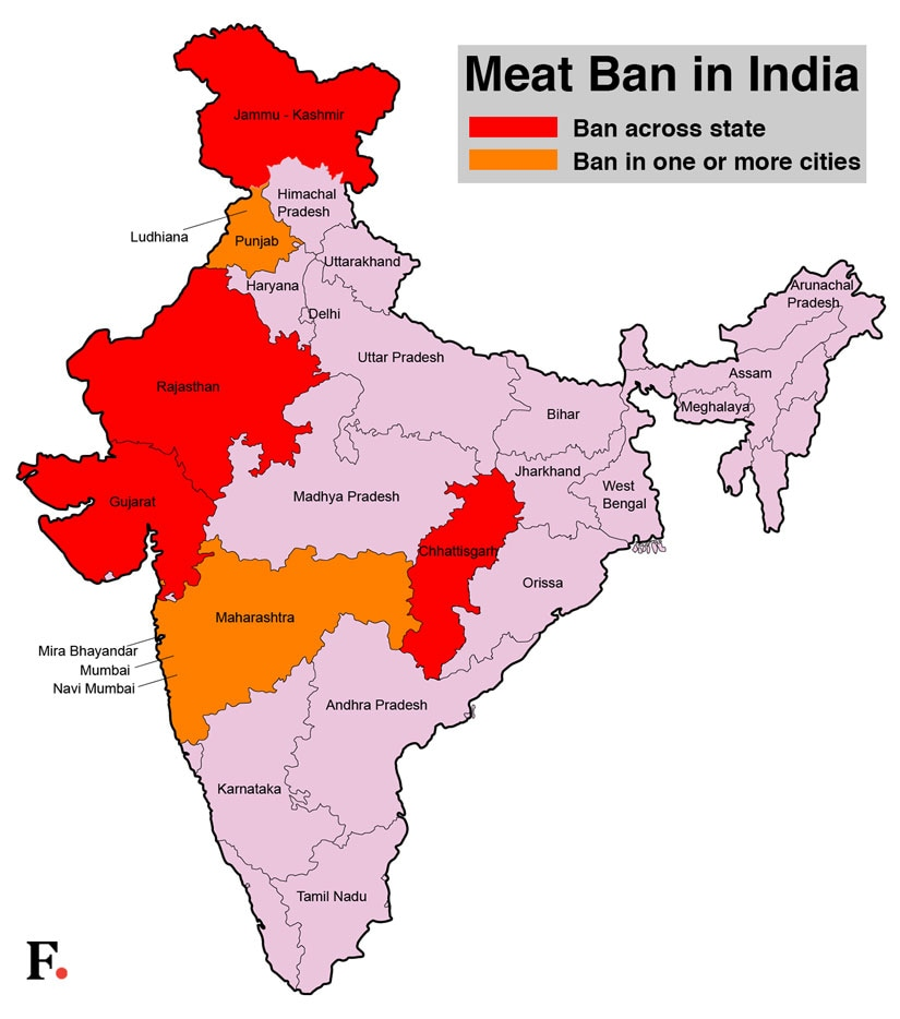 A non-vegetarian's guide to bans in India: Here are the
