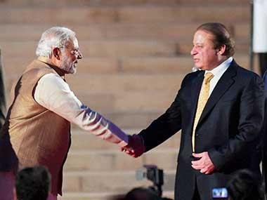 File photo of Indian PM Narendra Modi and Pakistan PM Nawaz Sharif. PTI