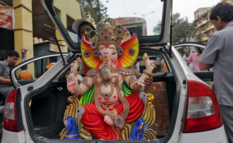 The ten-day long festival has seen concerns over traffic disruptions and breaching of noise pollution norms. Image courtesy: Reuters
