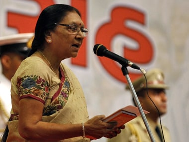 File image of former Gujarat chief minister Anandiben Patel. Reuters