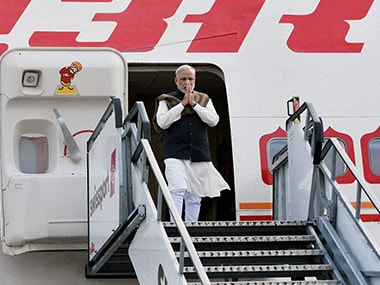 PM Modi upon his arrival at International Airport, Dublin on Wednesday. PTI