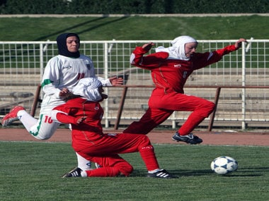 Iranian football star barred from travelling to tournament by her husband