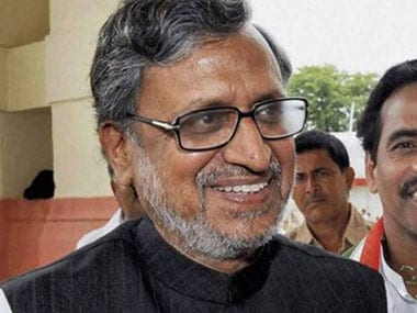 Sushil Modi booked for allegedly promising laptops and TVs to voters in Bihar