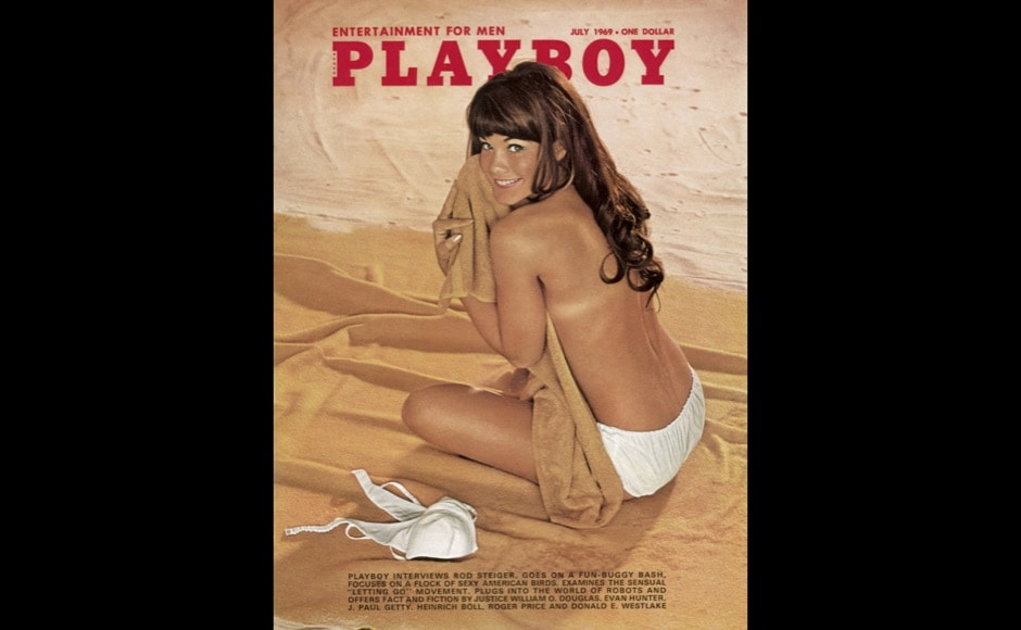 This image released by Playboy shows Barbi Benton on the cover of the July 1969 issue of the gentleman's magazine. The magazine that helped usher in the sexual revolution in the 1950s and '60s by bringing nudity into America's living rooms announced this week that it will no longer run photos of completely naked women. Starting in March, 2016, Playboy's print edition will still feature women in provocative poses, but they will no longer be fully nude. (Playboy via AP)