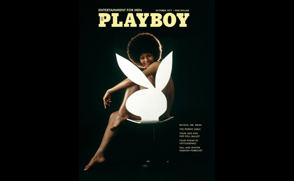 This image released by Playboy shows Darine Stern on the cover of the October 1971 issue of the gentleman's magazine. The magazine that helped usher in the sexual revolution in the 1950s and '60s by bringing nudity into America's living rooms announced this week that it will no longer run photos of completely naked women. Starting in March, 2016, Playboy's print edition will still feature women in provocative poses, but they will no longer be fully nude. (Playboy via AP)