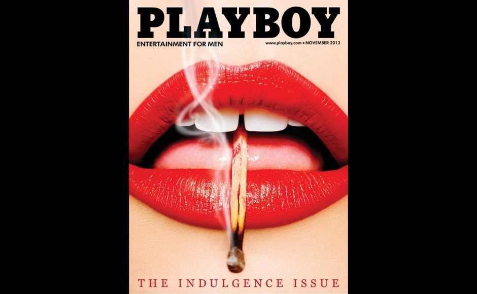 This image released by Playboy shows the cover of the November 2013 issue of the gentleman's magazine. The magazine that helped usher in the sexual revolution in the 1950s and '60s by bringing nudity into America's living rooms announced this week that it will no longer run photos of completely naked women. Starting in March, 2016, Playboy's print edition will still feature women in provocative poses, but they will no longer be fully nude. (Playboy via AP)