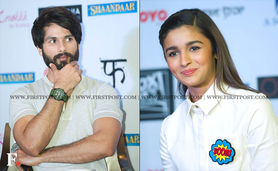 "Serious vs smiley. ""Shaandaar"" directed by Vikas Bahl is all set to release on October 22. Naresh Sharma / Firstpost"