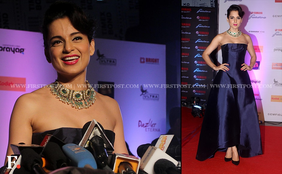 Kangana Ranaut chose a blue strapless gown for the grand finale of the Yamaha Fascino Miss Diva 2015, held at Hotel Sahara Star on Wednesday. Sachin Gokhale / Firstpost