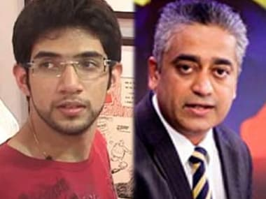 Aaditya Thackeray (left) and Rajdeep Sardesai (right). IBNLive
