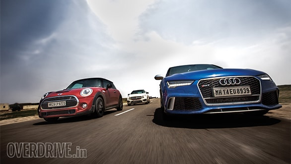 An RS 7, a Mini Cooper S, a GLA 45 AMG. . .