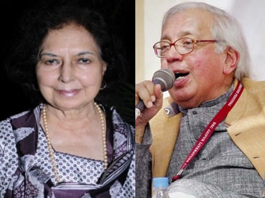 Nayantara Sahgal (left) and Ashok Vajpeyi (right). IBNLive