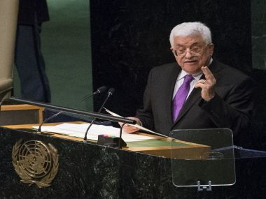File photo of Palestinian Authority president Mahmoud Abbas. AFP
