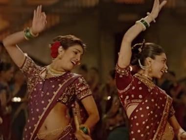 Priyanka Chopra and Deepika Padukone in Pinga from Bajirao Mastani. Screengrab