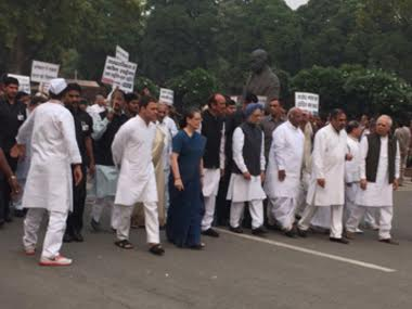 Congress is planning a march following AgustaWestland bust-up